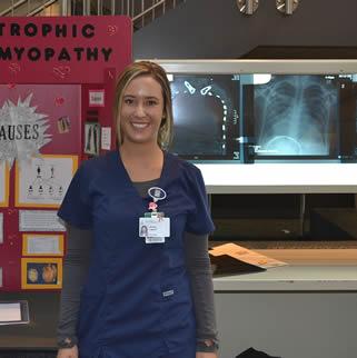 nursing-student-giving-college-display-presentation
