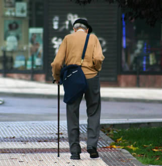 elderly man walking - photo #33