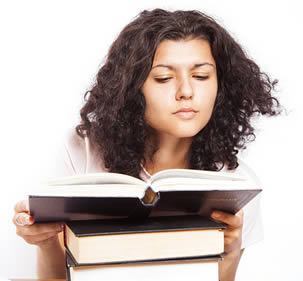 college-woman-reading-book