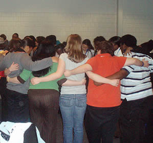 student-group-hug