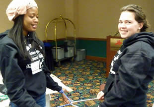 students-working-on-team-building-activity
