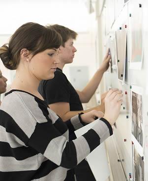 students-at-bulletin-board