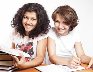 two-college-girls-study-for-exam
