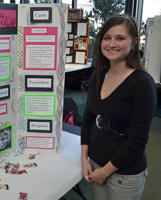 young-college-female-at-school-display